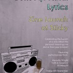 Consequential Lyrics Zine & Podcast Launch Poster