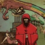 The Album Cover to Major Tom & The Atoms' debut album, 'Heroes, Villains, Boom Boom Boom!'