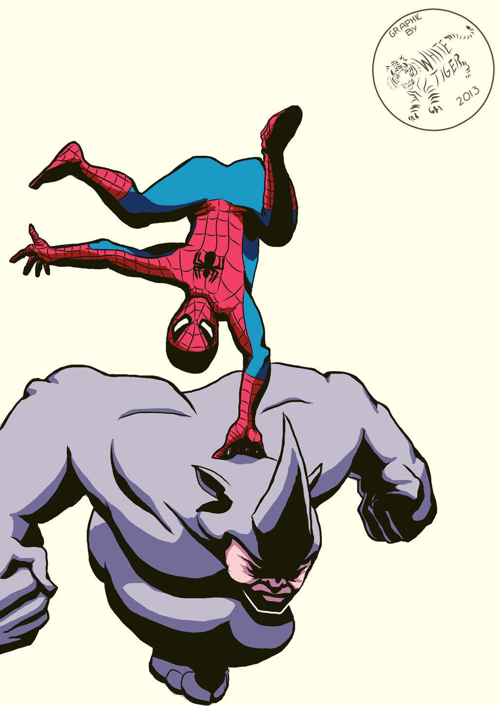 Spider-Man vs The Rhino